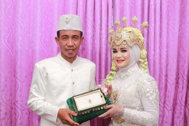 Pengantin Pria Kembaran Presiden Jokowi